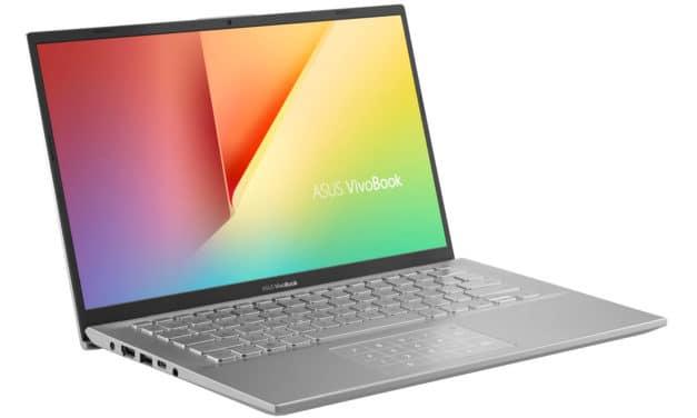 """<span class=""""nouveau"""">Nouveau 699€</span> Asus VivoBook S412DA-EK473T, PC portable 14"""" polyvalent fin rapide léger gros stockage NumPad"""