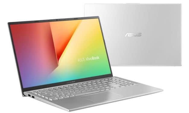"""<span class=""""nouveau"""">Nouveau 799€</span> Asus VivoBook S512DA-EJ850T, PC portable 15"""" argent fin léger rapide et polyvalent"""