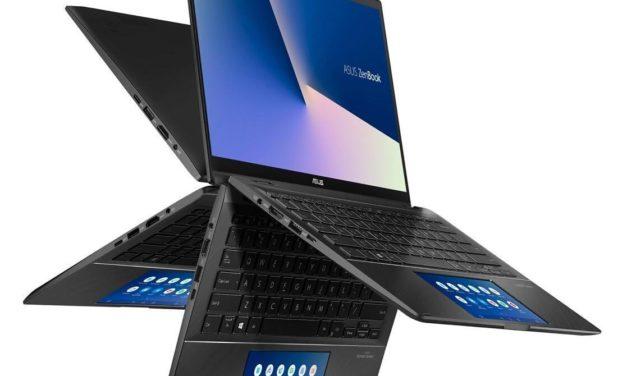 """Asus Zenbook Flip UX463FL-AI073R, 14"""" convertible tablette avec MX250, SSD 1 To et ScreenPad (1499€)"""