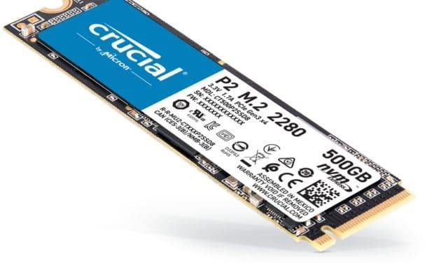 Crucial P2, un nouveau SSD M.2 NVMe garanti 5 ans qui se veut abordable, déjà disponible