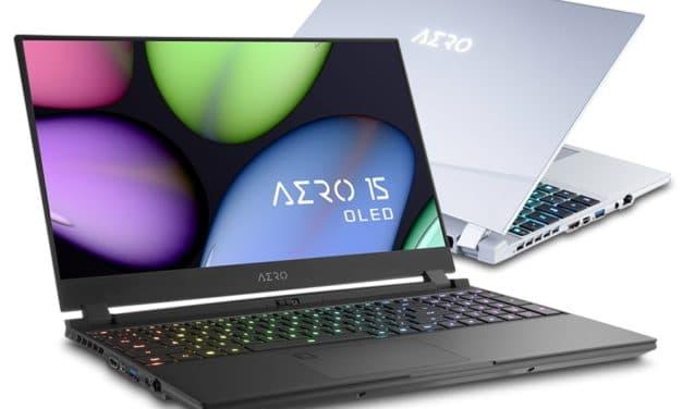 Gigabyte Aero 15 (OLED) et Aero 17 (HDR), PC portables gamer Comet Lake-H et NVIDIA RTX Super