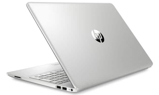 """<span class=""""promo"""">Promo 357€</span> HP 15-dw0000nf, PC portable 15"""" argent bureautique pas cher fin léger rapide"""