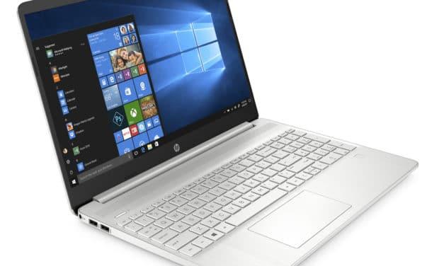 """HP 15s-eq0004nf, PC portable 15"""" argent blanc bureautique pas cher rapide fin et léger (399€)"""