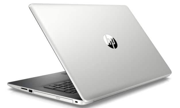 "HP 17-by2015nf, PC portable 17"" polyvalent argent/noir gros stockage et CD/DVD (799€)"