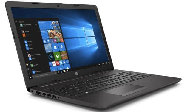 """HP 250 G7 (3C157EA), PC portable 15"""" noir gros stockage léger avec graveur CD/DVD (442€)"""