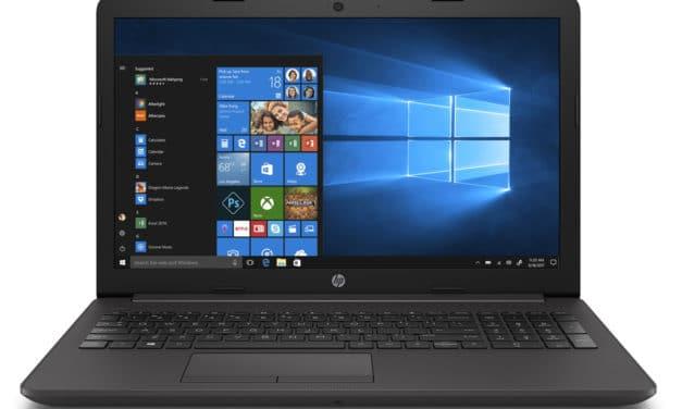 """HP 250 G7 (6BP89EA), PC portable 15"""" noir bureautique léger pas cher avec graveur CD/DVD (385€)"""