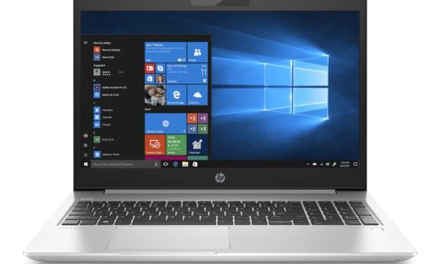 "HP ProBook 450 G7 (2D366EA), Ultrabook 15"" argent fin et léger avec gros stockage Wi-Fi ax 7h (734€)"