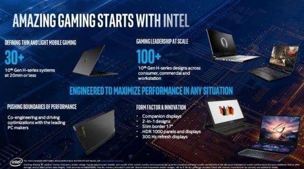 Intel Comet Lake-H PC portables
