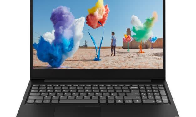 """<span class=""""nouveau"""">Nouveau 379€</span> Lenovo IdeaPad S145-15IGM (81MX0040FR), PC portable 15"""" noir bureautique pas cher rapide léger"""