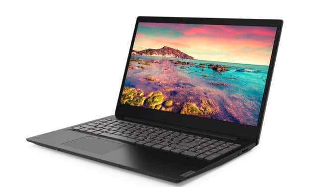 "Lenovo IdeaPad S145-15IKB (81VD001NFR), Ultrabook 15"" noir pas cher fin, léger et rapide (439€)"