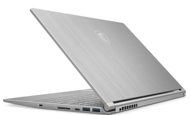 "MSI Modern 14 A10M-451XFR, Ultrabok 14"" argent fin rapide très léger sans Windows (566€)"