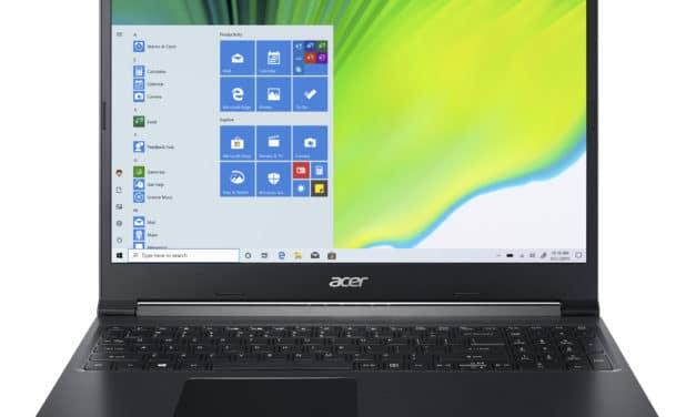 Acer Aspire 7 A715-75G-50V8, PC portable 15 pouces puissant et sobre avec GTX 1650 Ti (849€)