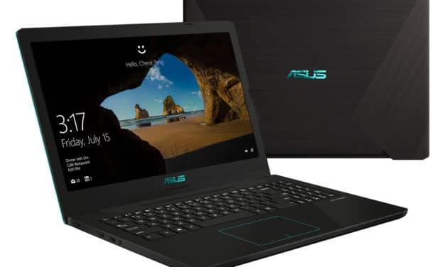 """Asus FX570DD-DM020T, PC portable 15"""" polyvalent noir turquoise rapide et léger (749€)"""