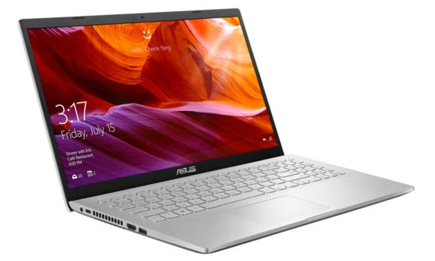 """Asus M509DA-EJ465T, PC portable 15"""" polyvalent argent rapide et léger (599€)"""