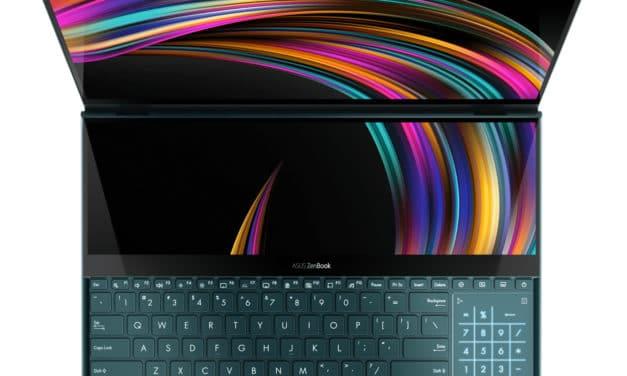 Asus ZenBook Pro Duo UX581GV-H2038R, PC portable double écran polyvalent et puissant RTX (2679€)
