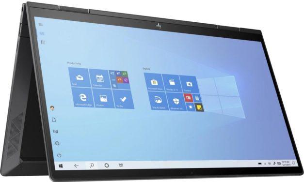 HP Envy x360 13-ay0003nf, 13 pouces tactile convertible en tablette puissant Hexa Core (904€)