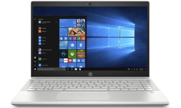 HP Pavilion 14-ce3007nf, ultrabook 14 pouces productif (599€)