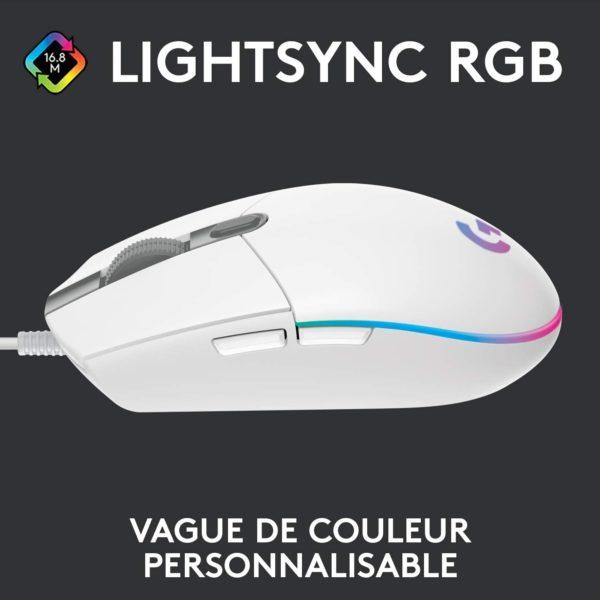 Logitech G203 Lightsync RGB RVB