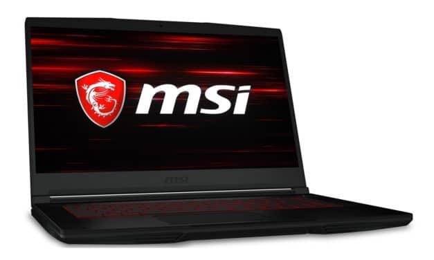 MSI GF63 10SCXR-081XFR, PC gamer 15 pouces léger et fin GTX 1650 (699€)