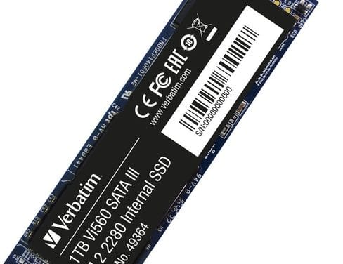 Verbatim Vi560 et Vi3000, nouveaux SSD M.2 compacts jusqu'à 1 To et 3.1 Go/s