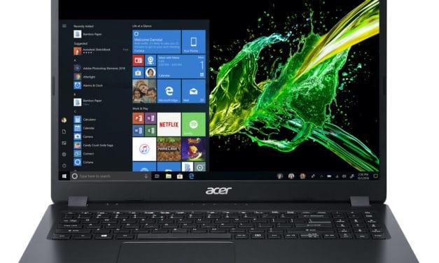 Acer Aspire 3 A315-42-R5VM, 15 pouces pas cher, léger et rapide bureautique (499€)