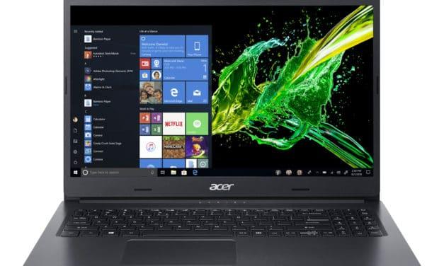 """Acer Aspire 3 A315-55G-378C, Ultrabook 15"""" noir polyvalent léger fin et rapide (599€)"""