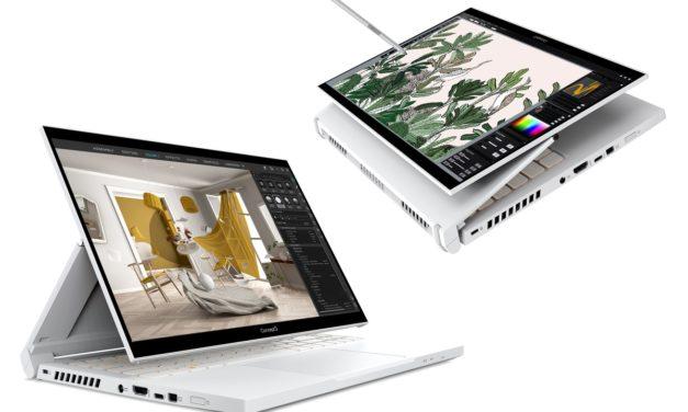 Acer ConceptD 3 (Ezel), nouveaux PC portables (Tablette) blancs performants pour créateurs avec GTX 20h
