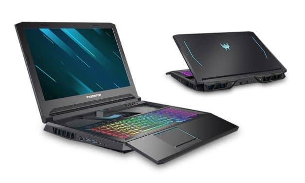 Acer Predator Helios/Triton 300 et 700, PC portables 240Hz gamer RTX 2080 Super Octo Core RAID SSD