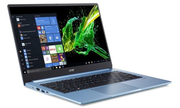 """Acer Swift 3 SF314-57-5784, Ultrabook 14"""" bleu nomade léger fin et rapide Wi-Fi ax 8h (799€)"""