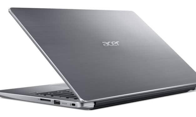 """Acer Swift 3 SF314-58-519Z, Ultrabook 14"""" argent polyvalent fin rapide et léger avec SSD (639€)"""