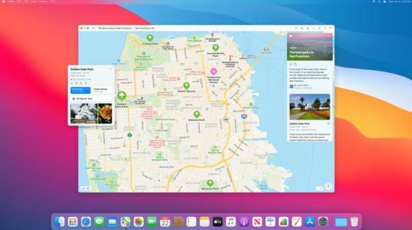 Apple macOS 11 Big Sur Maps