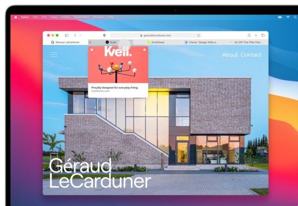 Apple macOS 11 Big Sur Safari