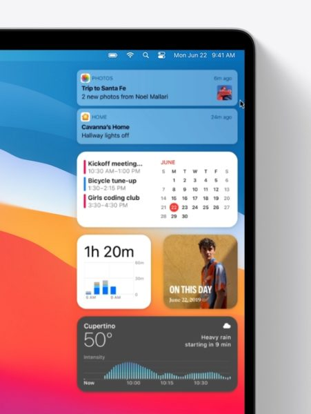 Apple macOS 11 Centre Notifications