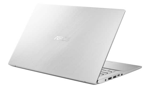 """<span class=""""nouveau"""">Nouveau 599€</span> Asus VivoBook S412DA-EK333T, PC portable 14"""" argent polyvalent fin léger rapide SSD 512 Go"""