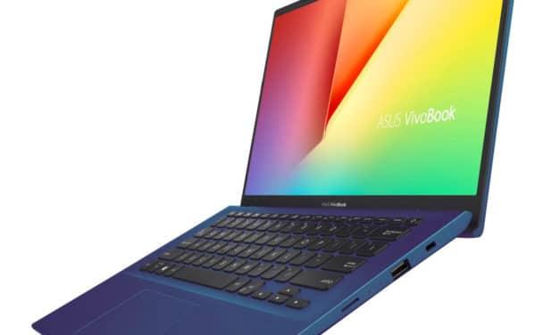 """Asus VivoBook S412UA-EK384T, Ultrabook 14"""" bleu bureautique pas cher léger et rapide SSD 512 Go (469€)"""