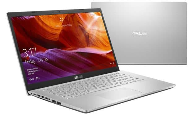 """<span class=""""nouveau"""">Nouveau 445€</span> Asus Vivobook X409FA-EK493T, PC portable 14"""" argent pas cher rapide et léger + sacoche et souris"""