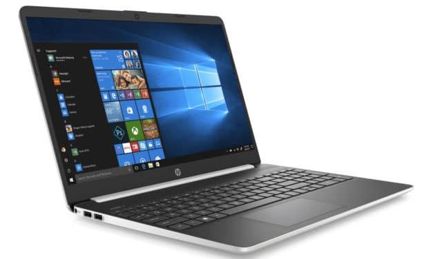 """HP 15s-fq1025nf, Ultrabook 15"""" argent/noir rapide fin et léger avec SSD (549€)"""