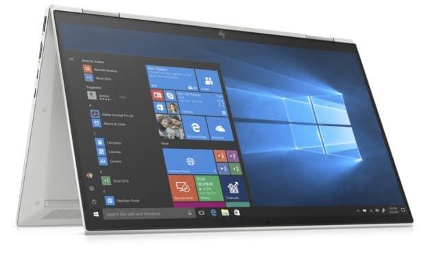 HP EliteBook x360 1030 et 1040 G7, Ultrabooks tactiles Tablette 4K OLED argent fins et légers avec 5G, 29h