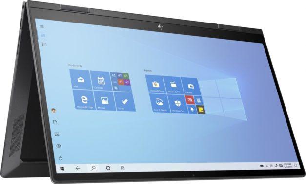 HP Envy x360 15-ee0002nf, 15 pouces convertible en tablette productif avec Hexa Core (809€)