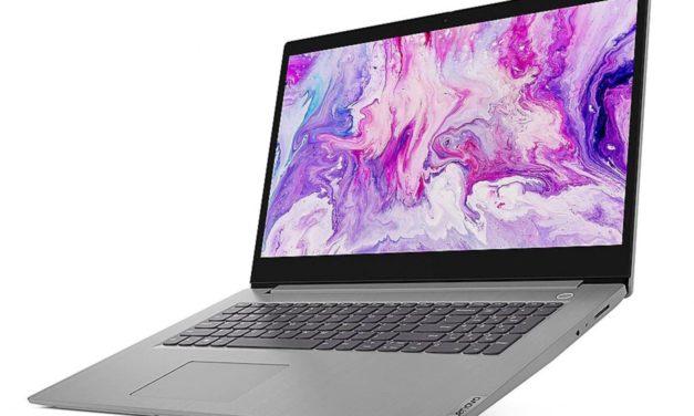 """<span class=""""promo"""">Promo 639€</span> Lenovo IdeaPad 3 17IML05, 17 pouces fin bureautique"""