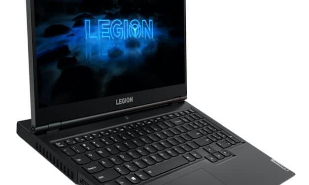 Lenovo Legion 5 15ARH05, PC portable 15 pouces polyvalent Octo Core (999€)