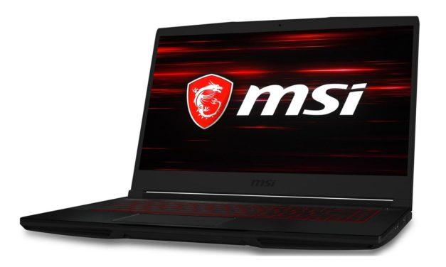 MSI GF63 10SCXR-277FR, PC gamer 15 pouces polyvalent, léger et fin (959€)