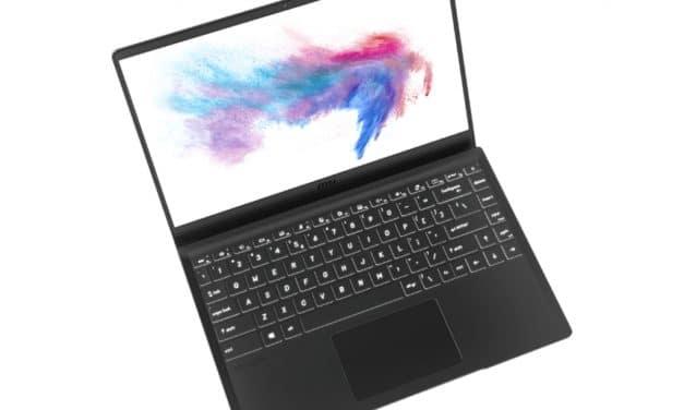 """MSI Modern 14-B4M, nouveau PC portable 14"""" polyvalent fin et léger Octo Core AMD Ryzen Renoir"""