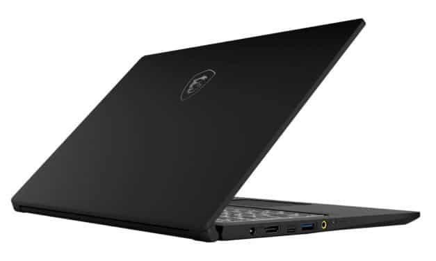 """MSI Modern 15 A10M-214XFR, Ultrabook 15"""" noir nomade rapide fin et léger sans Windows (689€)"""