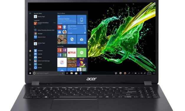"""Acer Aspire 3 A315-42-R07Q, PC portable 15"""" noir polyvalent fin léger et rapide avec gros stockage (579€)"""