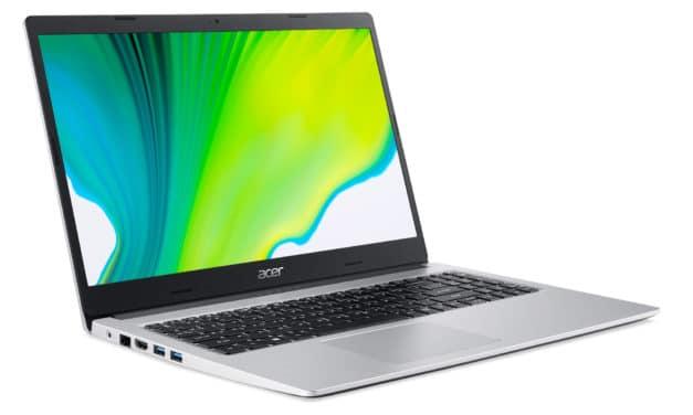 Acer Aspire 3 A315-23-R3RC, 15 pouces compact, pas cher et rapide pour la bureautique (449€)
