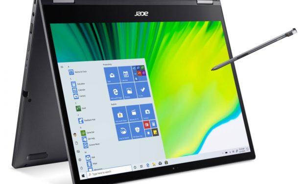 "Acer Spin 5 SP513-54N-53K4, ultrabook 13"" convertible tablette QHD+ multimédia (1099€)"