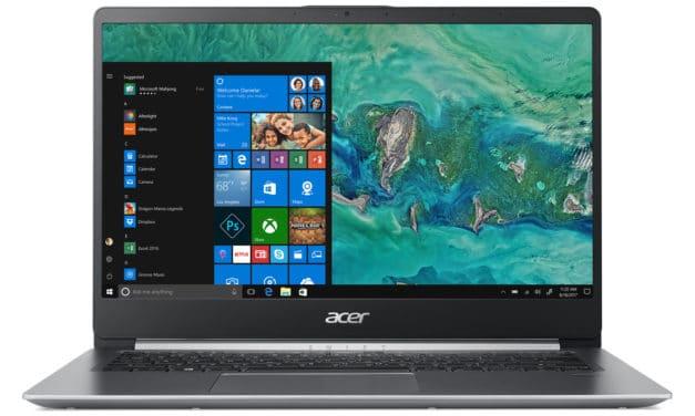 Acer Swift 1 SF114-32-P6GN, 14 pouces léger, pas cher, silencieux et endurant (499€)