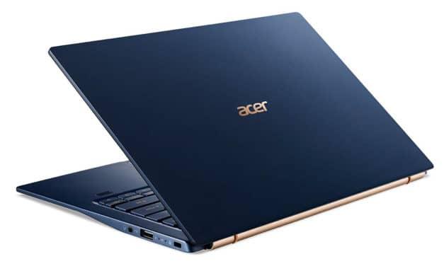 Acer Swift 5 SF514-54GT-745X, PC très léger 14 pouces bleu pour le multimédia avec MX350 (1299€)