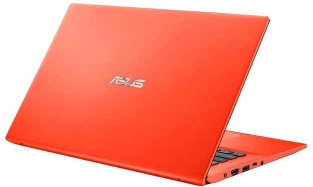 "<span class=""promo-best"">Promo 469€</span> Asus VivoBook S412FA-EK840T, ultrabook coloré orange 14"" bureautique rapide"
